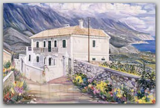 """The Cangelaris Mansion in Cephalonia"" by Diana Antonakatou"