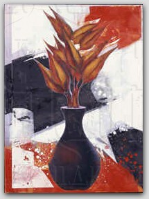 """Vase with Leaf"" by Christos Caras"